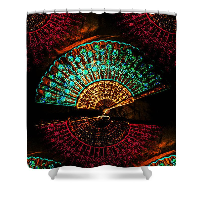 Shower Curtain featuring the photograph Fans by Gerald Kloss