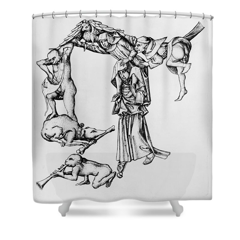 1465 Shower Curtain featuring the painting Fantastic Alphabet, C1465 by Granger