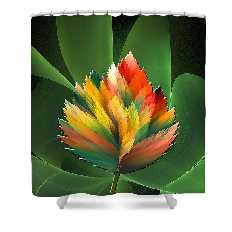 Abstract Shower Curtain featuring the digital art Fantasy Flower 2 by Klara Acel