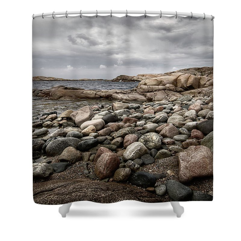 Tranquility Shower Curtain featuring the photograph Far West End by Martin Fredholm