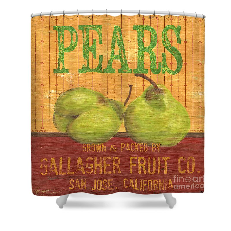 Food Shower Curtain featuring the painting Farm Fresh Fruit 1 by Debbie DeWitt