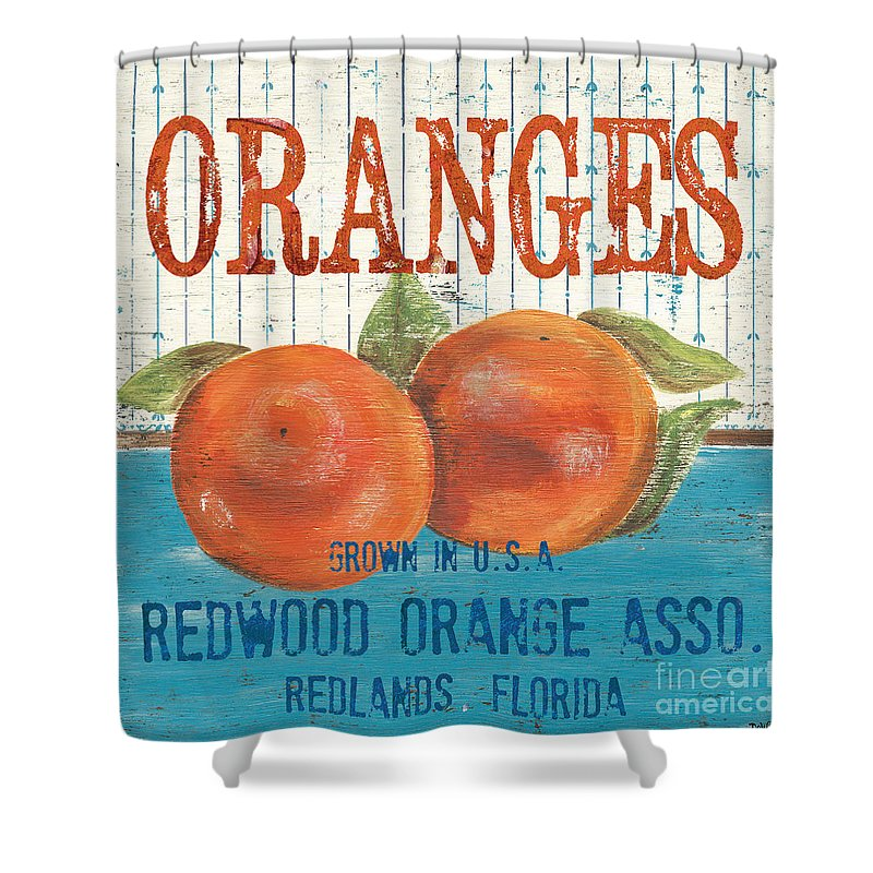 Food Shower Curtain featuring the painting Farm Fresh Fruit 2 by Debbie DeWitt