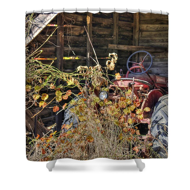 North Carolina Shower Curtain featuring the photograph Farmall Find by Benanne Stiens