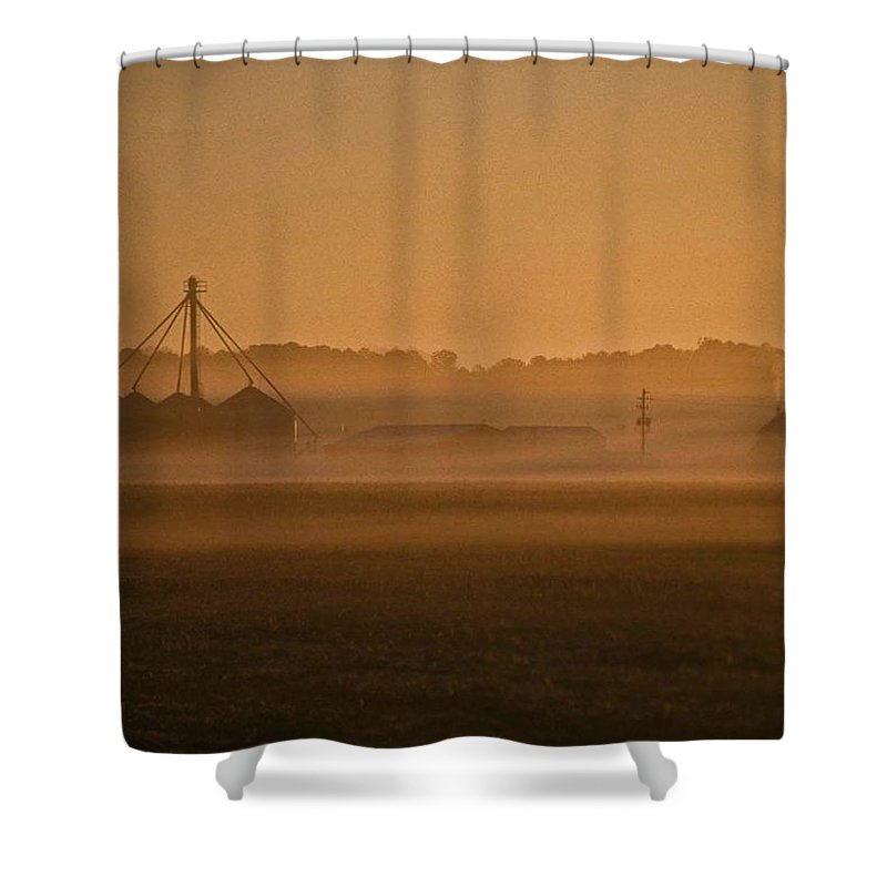 Nature Shower Curtain featuring the photograph Farmers Sunrise by Skip Willits