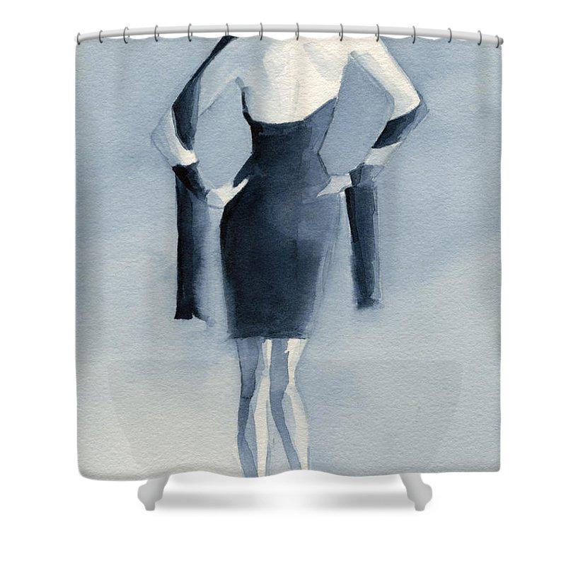 Blue Dress Shower Curtains