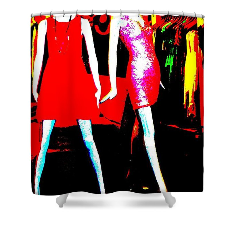 Abstract Shower Curtain featuring the photograph Fashion Statement by Lauren Leigh Hunter Fine Art Photography
