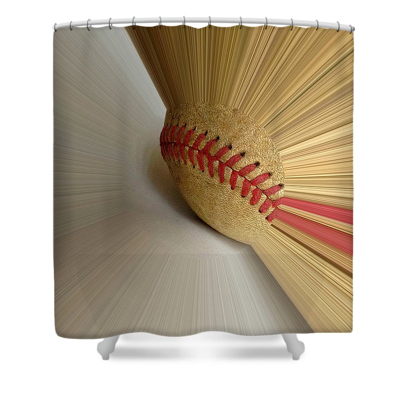 Fastball Shower Curtain featuring the photograph Fastball by Bill Owen