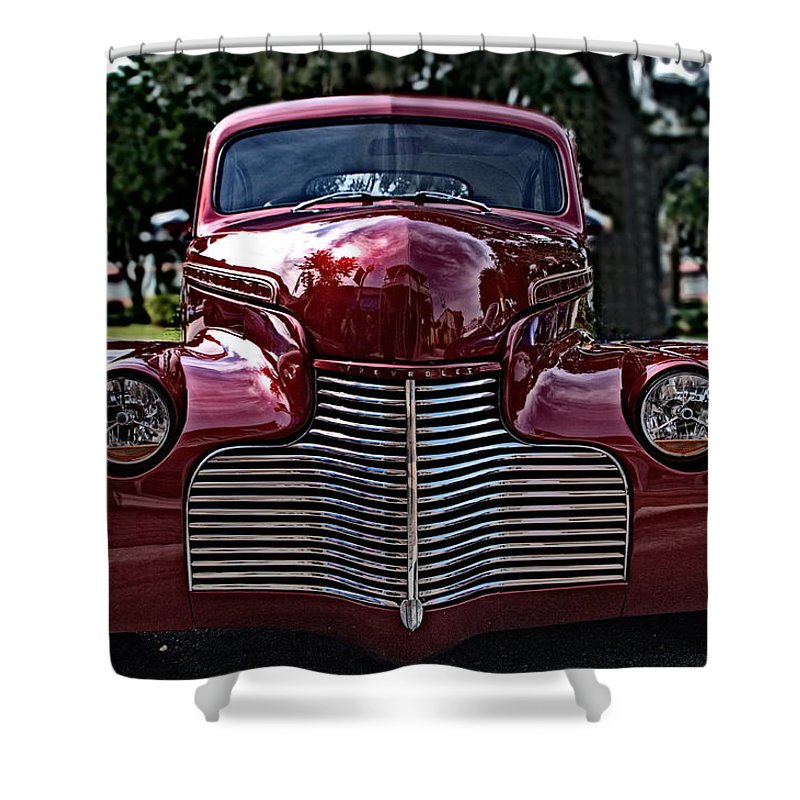 Car Shower Curtain featuring the photograph Fat Chevy by Jen T