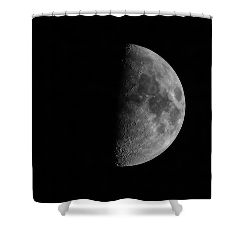 Moon Shower Curtain featuring the photograph Fathers Day Moon 1 by Thomas Young