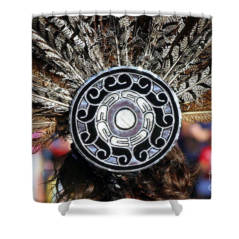 Head Shower Curtain featuring the photograph Feather Headdress by Henrik Lehnerer