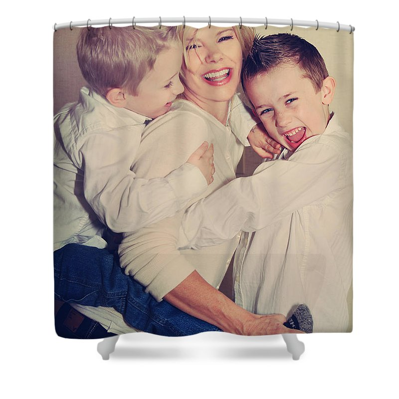 People Shower Curtain featuring the photograph Feel The Joy by Laurie Search