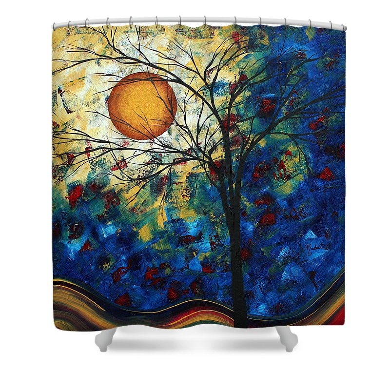 Decorative Shower Curtain featuring the painting Feel The Sensation By Madart by Megan Duncanson