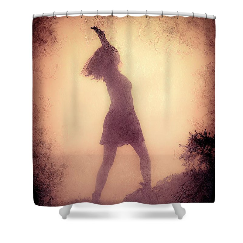 Loriental Shower Curtain featuring the photograph Feminine Freedom by Loriental Photography