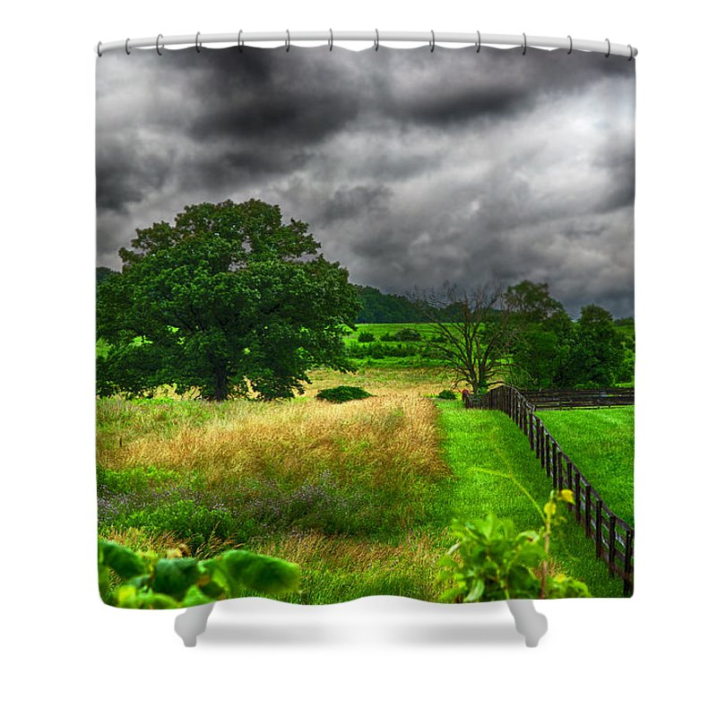 State Shower Curtain featuring the photograph Fenced Out by Ryan Crane