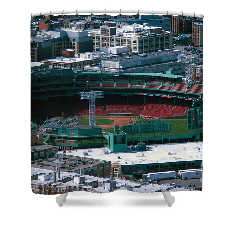 Fenway Park Shower Curtain featuring the photograph Fenwaypark by Ray Konopaske