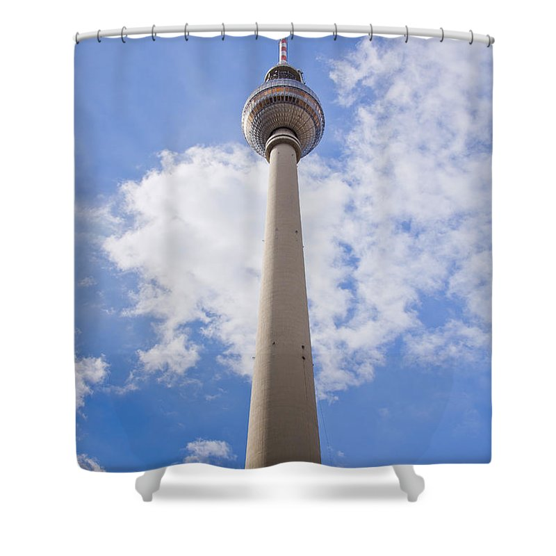 Fernsehturm Shower Curtain featuring the photograph Fernsehturm Berlin by Sv