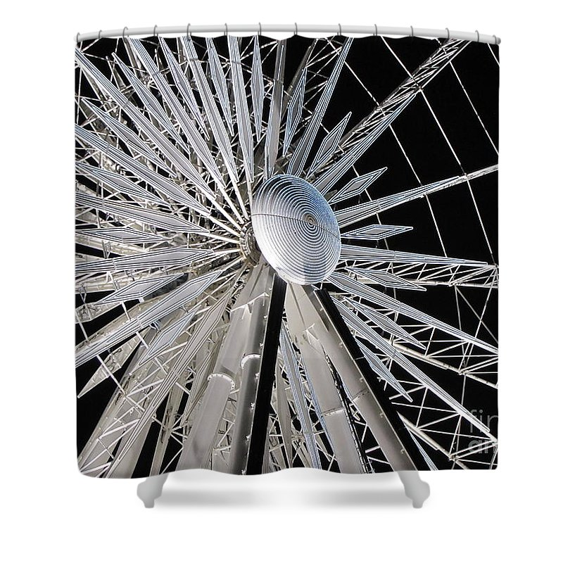 Art Shower Curtain featuring the photograph Ferris Wheel 12 by Michelle Powell