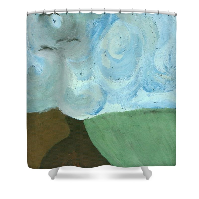 Colour Shower Curtain featuring the painting Field by Wojtek Kowalski