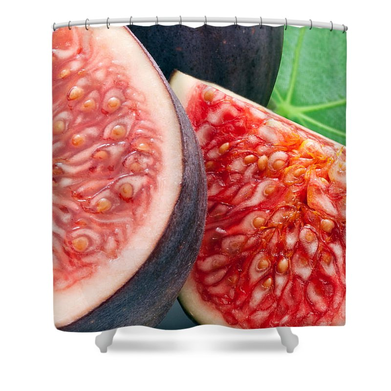 Figs Shower Curtain featuring the photograph Figs by Munir Alawi