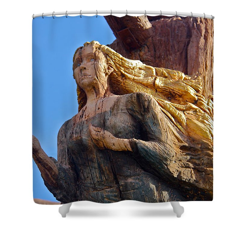 Figurehead Shower Curtain featuring the photograph Figurehead by Denise Mazzocco