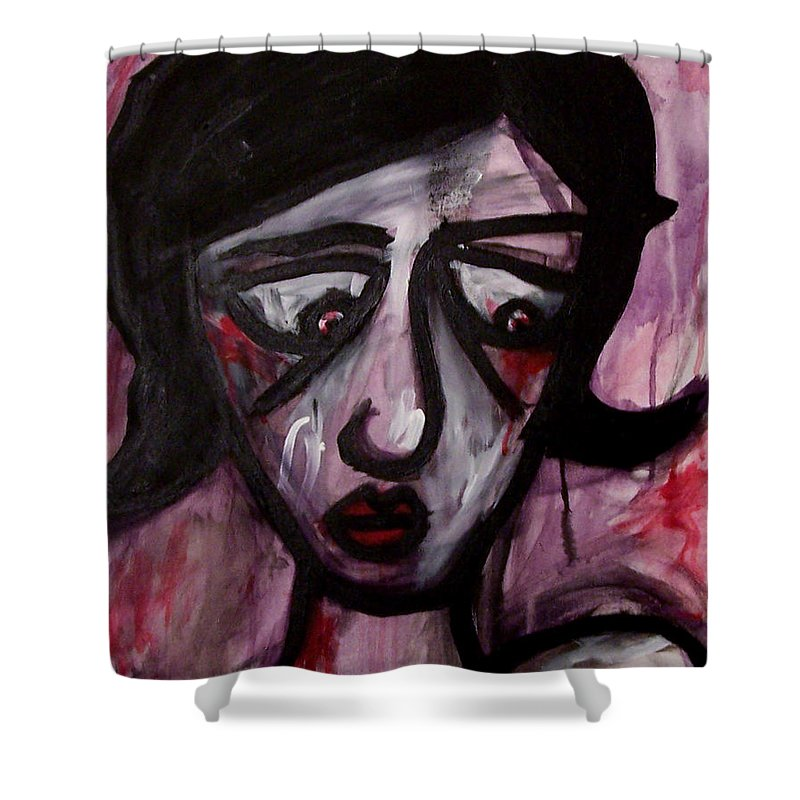 Portait Shower Curtain featuring the painting Finals by Thomas Valentine