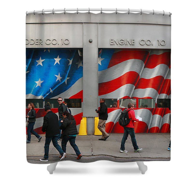Fire Company 10. Ten House Shower Curtain featuring the photograph Fire Company 10 by Allen Beatty