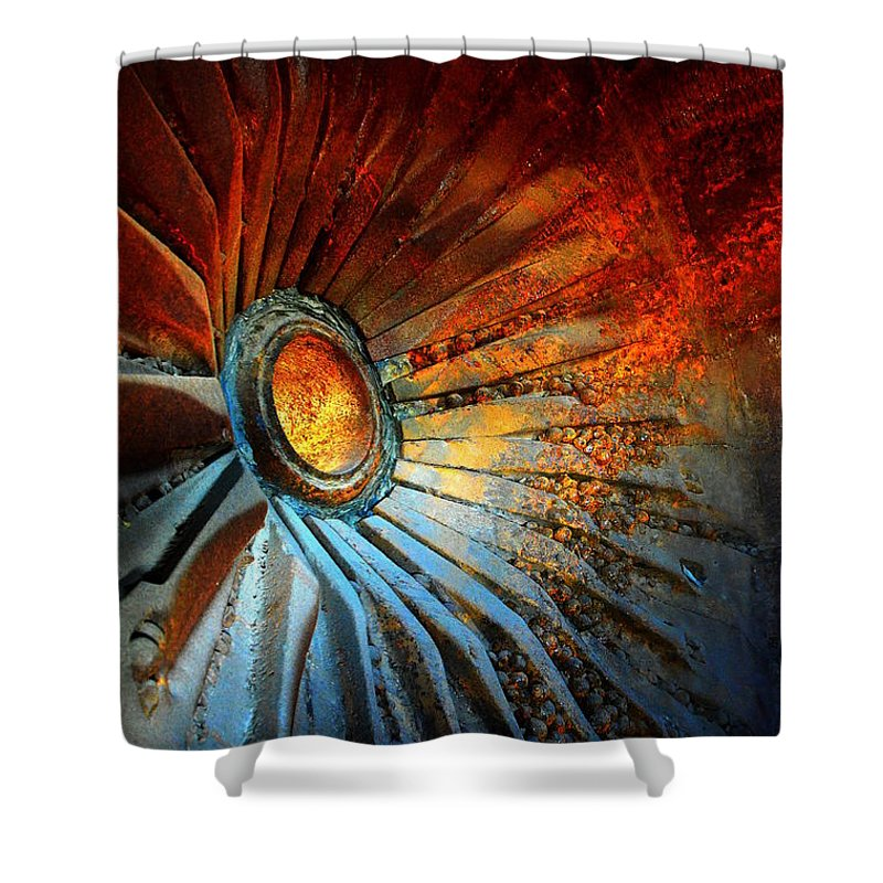 Junk Shower Curtain featuring the photograph Fire In The Hole by Newel Hunter