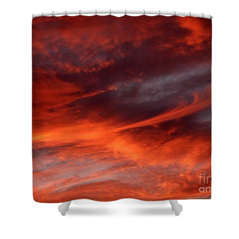 Sunset Shower Curtain featuring the photograph Fire in the Sky by Julia Walsh