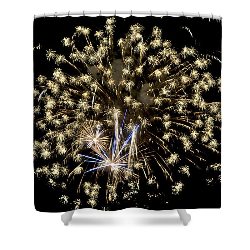 Colors Shower Curtain featuring the photograph Fireworks Bursts Colors And Shapes 4 by SC Heffner