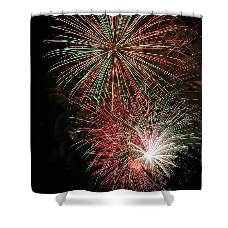 Firework Shower Curtain featuring the photograph Fireworks6509 by Gary Gingrich Galleries