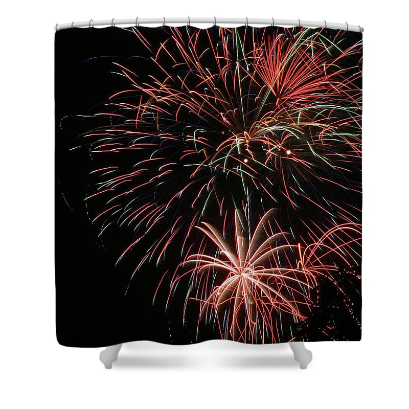 Firework Shower Curtain featuring the photograph Fireworks6525 by Gary Gingrich Galleries
