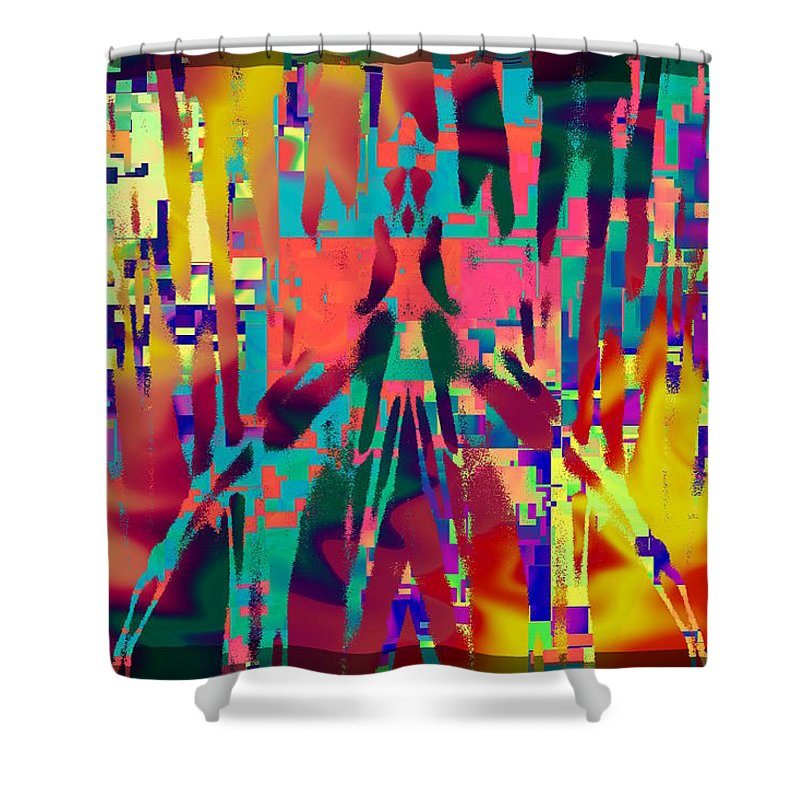Impressions Shower Curtain featuring the digital art First Impressions by Tim Allen
