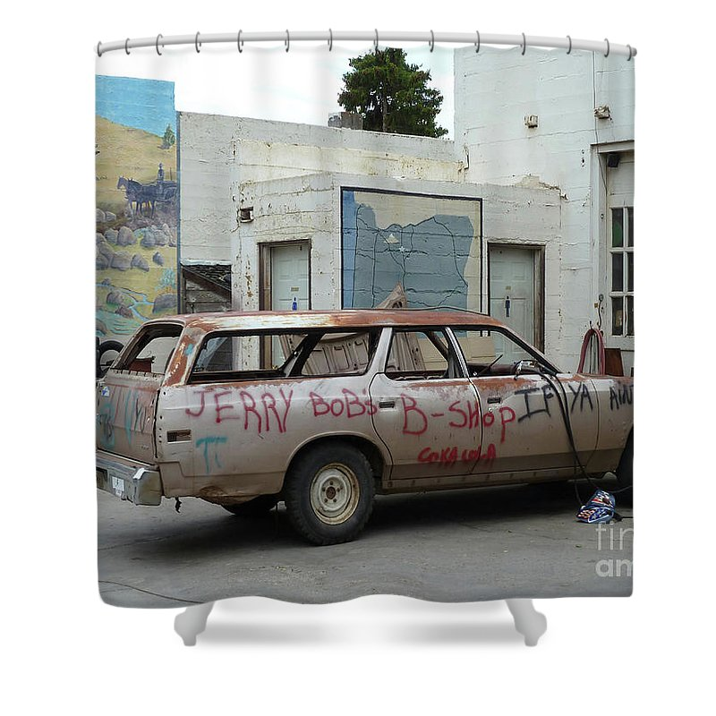 Landscape Shower Curtain featuring the photograph First Or Last by Lauren Leigh Hunter Fine Art Photography