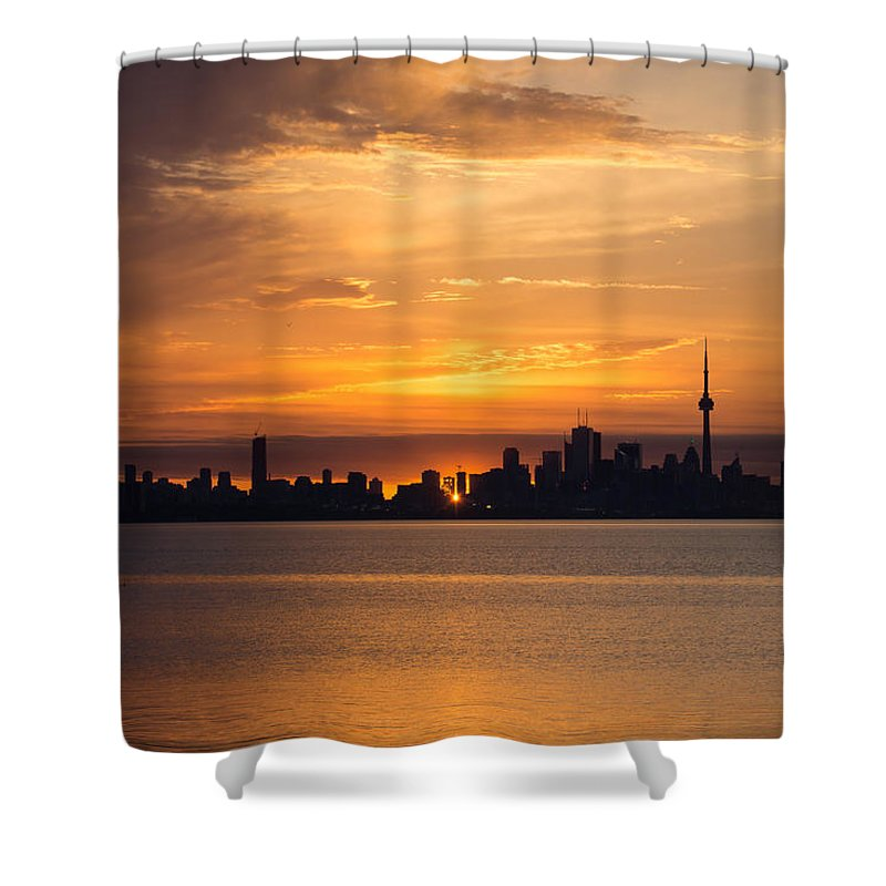 Sunrays Shower Curtain Featuring The Photograph First Sun Rays