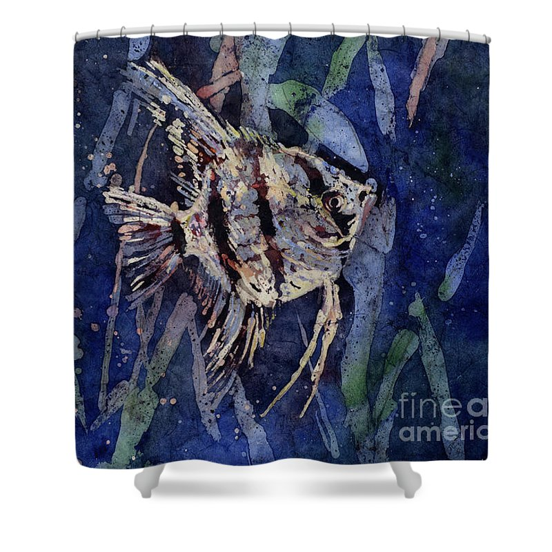 Art Prints Shower Curtain featuring the painting Fish N Flips by Ryan Fox