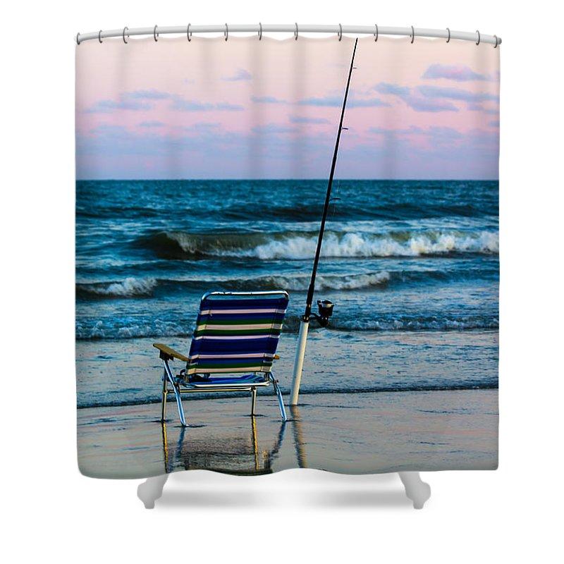 Beach Shower Curtain featuring the photograph Fishing On The Beach by Gaurav Singh