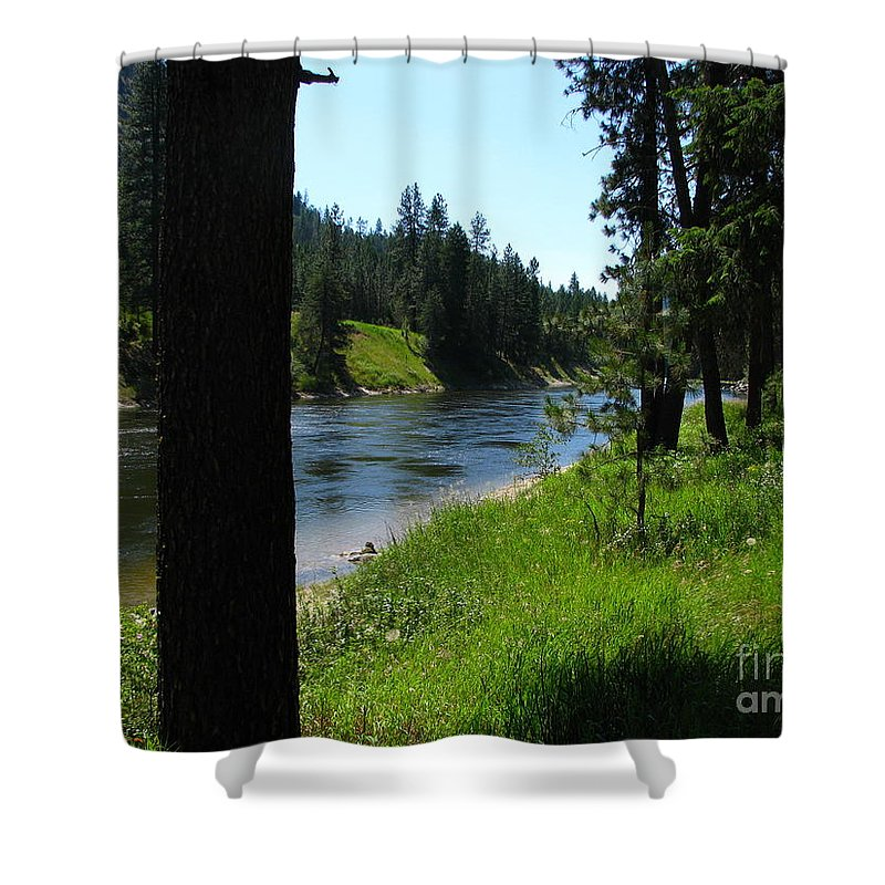 Art For The Wall...patzer Photography Shower Curtain featuring the photograph Fishing Spot 1 by Greg Patzer