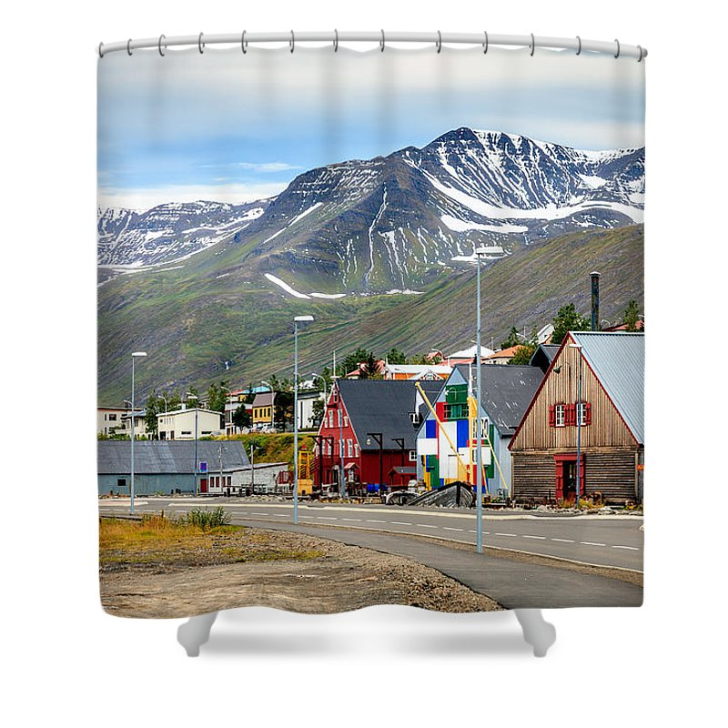 Europe Shower Curtain featuring the photograph Fishing Village In Iceland by Alexey Stiop
