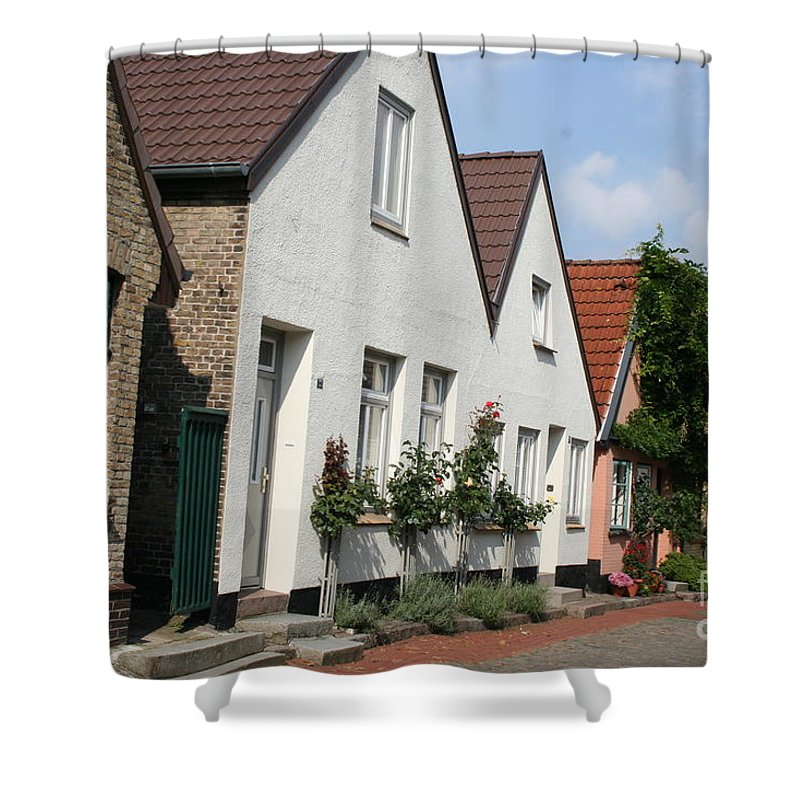 Fishingvillage Shower Curtain featuring the photograph Fishingvillage Holm by Christiane Schulze Art And Photography