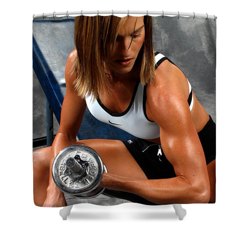 Model Shower Curtain featuring the photograph Fitness 28-2 by Gary Gingrich Galleries