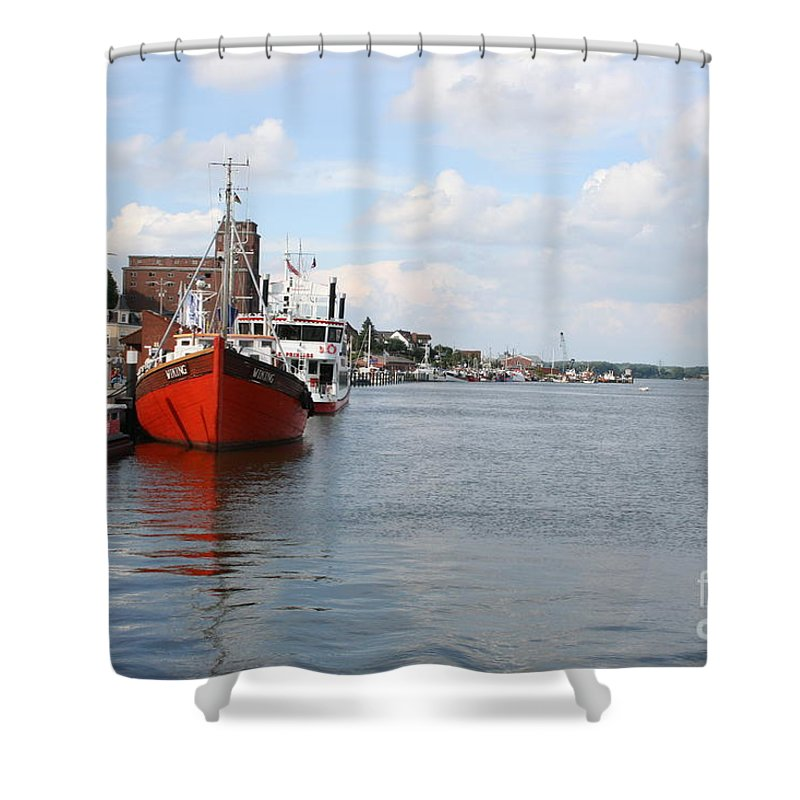 Fjord Shower Curtain featuring the photograph Fjord Schlei - Kappeln by Christiane Schulze Art And Photography