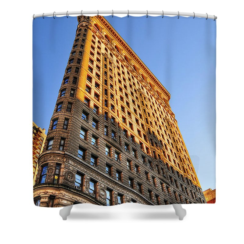 Flatiron Building Shower Curtain featuring the photograph Flatiron Building Profile Too by Randy Aveille
