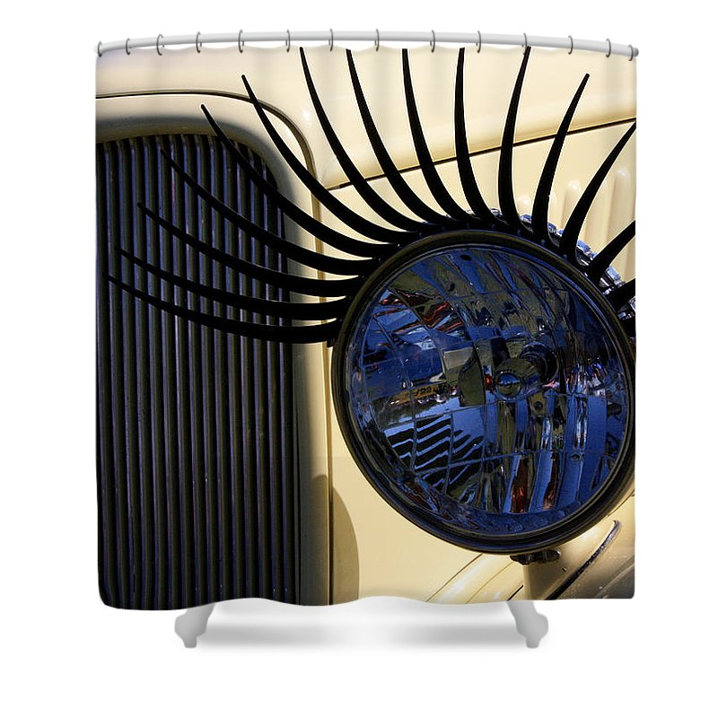 Ford Shower Curtain featuring the photograph Flirting With A 1933 Ford by Joe Kozlowski