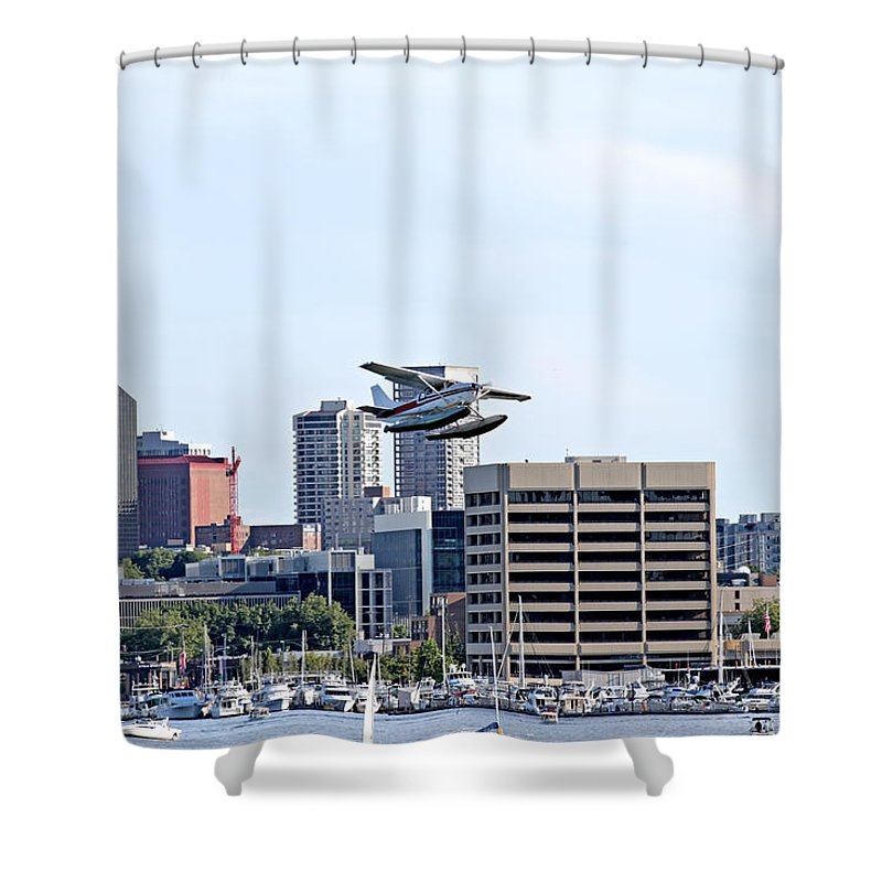 Seattle Shower Curtain featuring the photograph Float Plane by Paul Fell