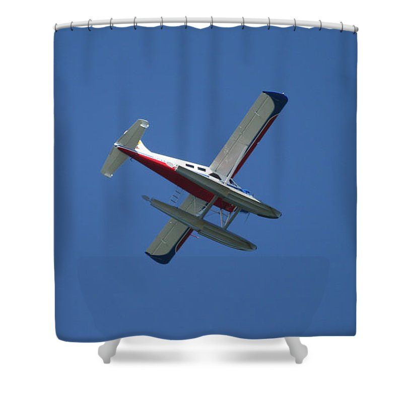 Nautical Shower Curtain featuring the photograph Float Plane by Tap On Photo