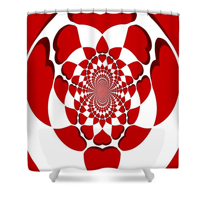 Hearts Shower Curtain featuring the digital art Floating Hearts by Pharris Art