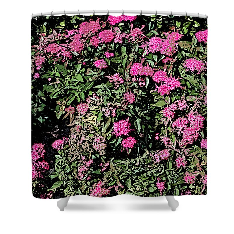 Summer Shower Curtain featuring the photograph Floral Afternoon by George Pedro