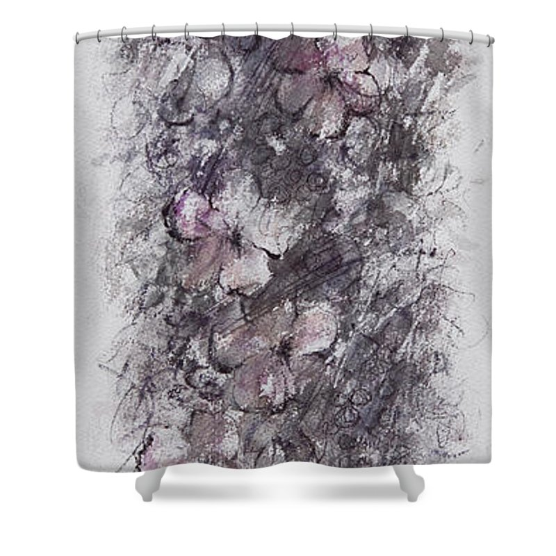 Floral Shower Curtain featuring the painting floral cascade II by William Russell Nowicki