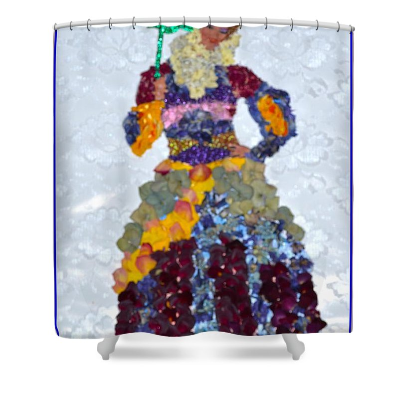 Floral Princess Shower Curtain Featuring The Photograph By Sonali Gangane