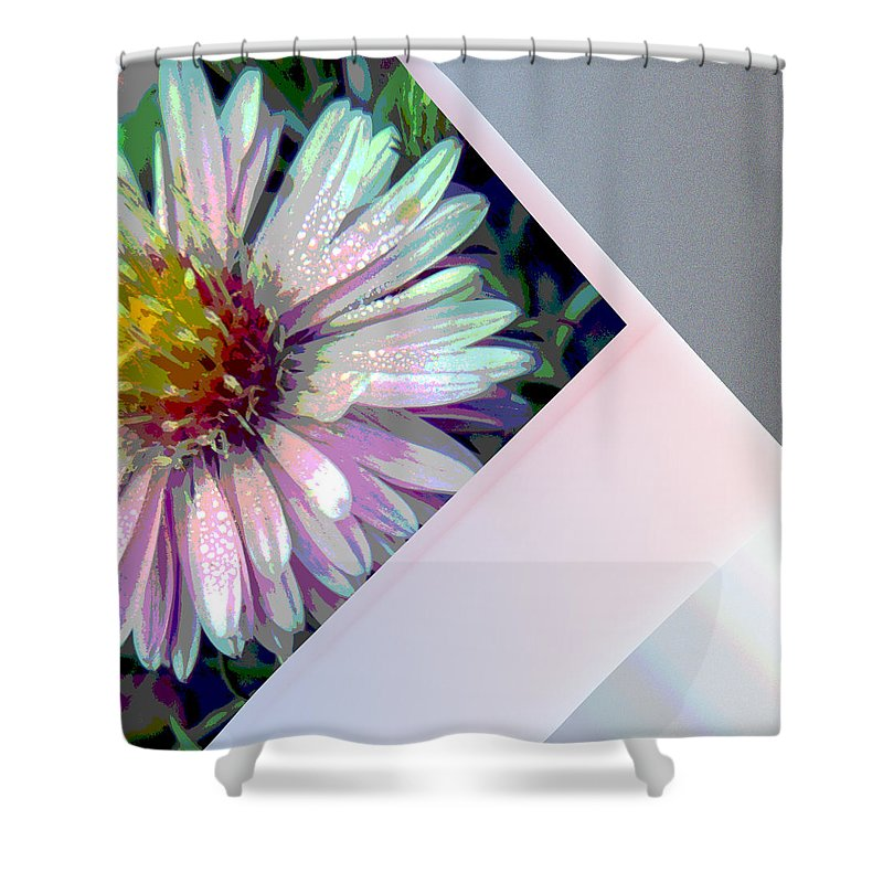 Flower Shower Curtain featuring the digital art Floral Snap Shot by Nicki Bennett